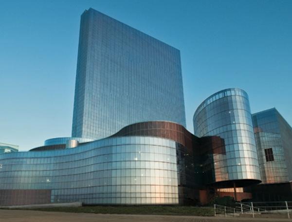 Varanda em revel casino hotel em atlantic city, Nova jersey — Fotografia de  Stock