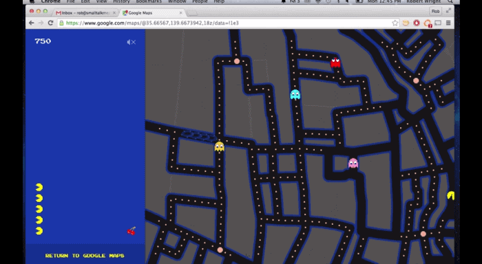 Play pac man on any google map ccuart Images