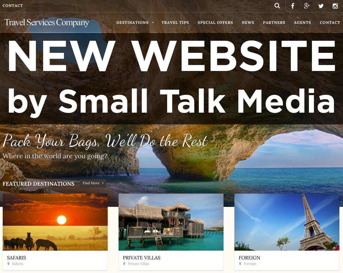 Philadelphia Web Design Travel Services Company